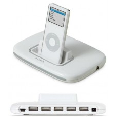 Belkin TuneSync Tune Sync 5 Port USB Hub iPod Dock Charger