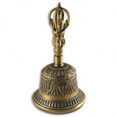 Large Brass Tibetan Bell  Vijra Meditation yoga prayer